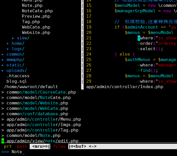 20200613105332 - vim目录树及文件搜索插件